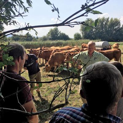 Expertengespräch: Erich Tölke mit Gästen auf der Weide